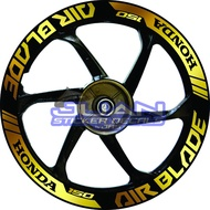 Motorcycles⊙♣卐Honda Airblade 150 Quality Viny/Reflectorized Mags Decals Sticker