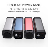 Portable Solar Generator Power Station 110V 220V AC Outlet Power Bank 20800mAh 100W Peak for Outdoor Portable Laptop Charger