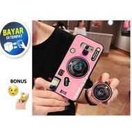 Casing  Hp Karakter  Model Kamera SAMSUNG J2 PRIME - Case Kamera Retro -  PROMO BONUS POP SOCKET
