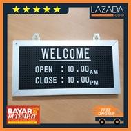 Papan Buka Tutup/Welcome Sign/Papan Jadwal/Coffee Shop Board/Movitex A