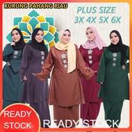Ready Stock Baju Kurung Pahang Riau Plus Size 3XL-5XL High Quality Cotton