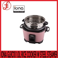 IONA GLRC10 1.0L RICE COOKER WITH STAINLESS STEEL STEAMER  Automatic Keep Warm