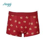 【Sloggi】men  Lazy Piggy 系列平口褲 福氣紅(G918810 R9)