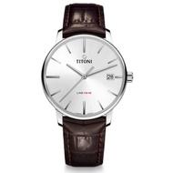 TITONI 瑞士梅花錶 83919S-ST-575 LINE1919 經典紀念機械腕錶/銀面 40mm