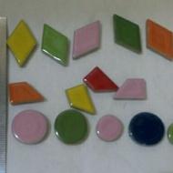 馬賽克磁磚 貝殼 各形狀磁磚 磁磚黏著劑 填縫土