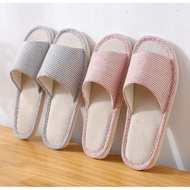 Soft Comfortable Indoor Slippers Home Hotel Slipper Striped Shoes SP004