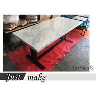 Just make 家室美家具-餐桌 銀狐大理石餐桌 桌子 石頭桌 工作桌 造型桌 訂製餐桌 書桌 會議桌 休閒桌