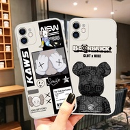 Bearbrick KAWS Case iPhone 11 Pro Max 12 Smile Cartoon Cute Anime TPU Mobile Accessories Soft Casing Plus Cell Phone Case Cover silicone Shockproof