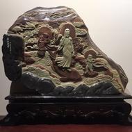 觀音大士 娘娘 精美 雕刻 石像 石頭 石雕