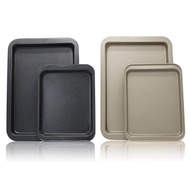 【baking tools】【food container】Nonstick Rectangular Bakeware and Cookie Sheet Pan Serving Tray Baking Tray 2Colors 2Sizes