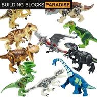 For Legoings Figures Jurassic Park Model Dinosaur 60-47 Building Blocks Compatible Tyrannosaurus Rex Kids Toys Jurassic World 2 Movies Assemble Legoing