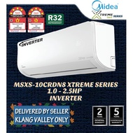 FREE DELIVERY (KLANG VALLEY ONLY) Midea Inverter Air Cond/Air conditioner MSXS 1hp 1.5hp 2hp 2.5hp
