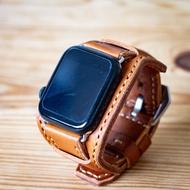 สายนาฬิกา สายหนังแท้ งานแฮนด์เมด สำหรับ Apple watch
