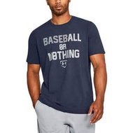 UA UNDER ARMOUR BASEBALL OR NOTHING 本壘板LOGO短袖T恤 1299621-410