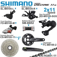 SHIMANO DEORE M5100 2x11 Speed Groupset Shifters Front/Rear Derailleur Crankset Cassette Chain and