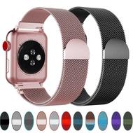 สายMilanese LoopสำหรับApple Watch,สายนาฬิกา42มม. 44มม. Correa Apple Watch 6 5 4 3 2 1สายApple Watch 38มม. 40มม. สายข้อมือตัวล็อคสายแม่เหล็ก