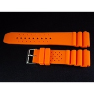 20mm   24mm超值高質感橘色蛇腹式矽膠錶帶替代原廠搶錢貴貨citizen,seiko潛水錶帶