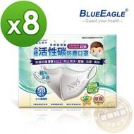 【醫碩科技】藍鷹牌NP-3DCS*8 台灣製兒童立體型防塵口罩 五層防護 活性碳款 灰 50入*8盒