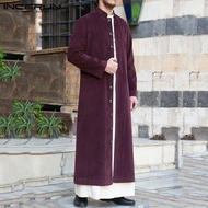 (Muslim) INCERUN Jubah Kardigan Lengan Panjang Pria Jaket Kaftan Lengan Panjang Pria