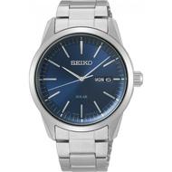 SEIKO 精工 V158-0BE0B(SNE525P1) 質感簡約太陽能時尚腕錶-藍/38mm