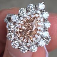 GIA 彩鑽設計款鑽戒  主石1.22  Fancy Light Pink-Brown SI2 粉紅彩鑽