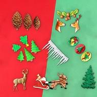 聖誕餅乾模型 圣誕節蛋糕裝飾硅膠模具鬆樹鬆果雪花餅干磨麋鹿雪橇翻糖巧克力模 聖誕節【DD9076】