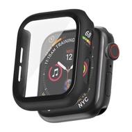 【IN7】Apple Watch手錶防摔電鍍保護殼 PC+鋼化膜 保護套44mm(四角包覆 抗震防摔)