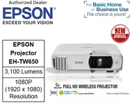 Epson EH TW650 Wireless Projector  Epson EH TW650 EHTW650  eh-tw650 (Free $40 NTUC voucher till 30/08/2020 , Online REDEMPTION by 14/09/2020)