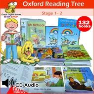 (In Stock) ใหม่ล่าสุด!  Oxford Reading Tree stage 1 - 2 Biff Chip จำนวน 132 Books + ปกด้าน +มีข้อความทุกเล่ม