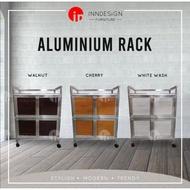 Aluminium  4 Wheels kitchen rack
