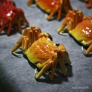 Jingdezhen Ceramics Simulation Crab Hairy Crab Living Room Entrance Antique Shelf Decorations Tea Ceremony Pet Animal Or