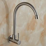 水龍頭單冷 掛墻壁入墻式304不銹鋼水槽廚房洗菜盆萬向陽臺洗衣池