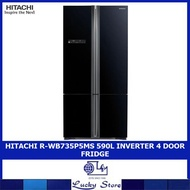 HITACHI R-WB735P5MS 590L INVERTER 4 DOOR FRIDGE