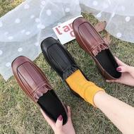 รองเท้าคัชชู รองเท้าผู้หญิง รองเท้าลำลอง รองเท้าคัชชู รองเท้าแฟชั่นผู้หญิงสีทึบผู้หญิงกลางแจ้ง 040704