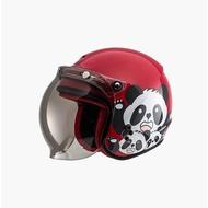 SOL SO-9K SO9K 安全帽 胖達 紅/白 半罩 3/4罩 兒童帽 安全帽《比帽王》