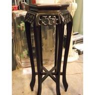 【尚典中古家具】中古桌子(二手邊桌)實木仿古花瓶架