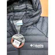 全新Columbia 哥倫比亞 男款-鈦 Omni-HEAT™3D鋁點熱能連帽羽絨外套 黑色