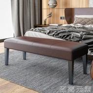 現代簡約床尾凳臥室長方形入戶試換鞋凳腳踏榻前床邊長條凳沙發凳