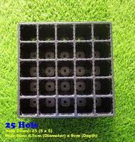 1 pcs 25 Hole Tray Seedling Tray Semaian Plastic Nursery Seed Germination (Dulang Bekas Semaian 25 Lubang)