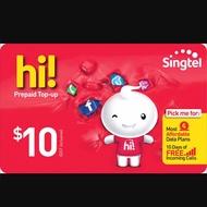 Singtel Prepaid Online $10