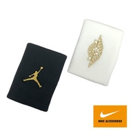 【NIKE 耐吉】JORDAN JUMPMAN X WINGS 喬丹 腕帶2.0 黑 白 J0003598092OS