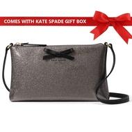 Kate Spade Mavis Street Amy Crossbody Bag Handbag Anthracite Silver # WKRU3540 + Gift Receipt