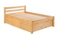 Sea Horse Storage Wooden Bed