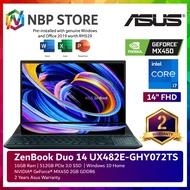 Asus ZenBook Duo 14 UX482E-GHY072TS 14'' FHD Touch Laptop Celestial Blue