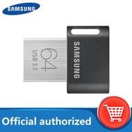 Samsung FIT Plus Flash Drive, USB 32G 64Gb Mini 3.1 Perangkat Penyimpanan Stik Memori Kecil 128Gb 256Gb