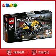 歐式韓版熱賣LEGO樂高42058 科技機械特技摩托車回力車男孩組裝積