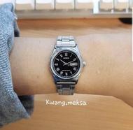 casio แท้100% นาฬิกาข้อมือหญิง สายสแตนเลส ปัดดำ รับประกันสินค้า1ปี