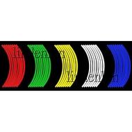 反光輪框貼紙10吋 12吋 13吋 14吋 16吋 17吋 18吋 機車貼紙 輪胎貼紙 輪框貼