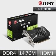 【MSI 微星】GT 1030 AERO 2GD4 OCV1 PCI-E顯示卡