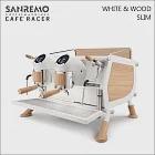 SANREMO CAFE RACER WHITE & WOOD SLIM 雙孔營業用咖啡機-窄版-220V (HG1378)
